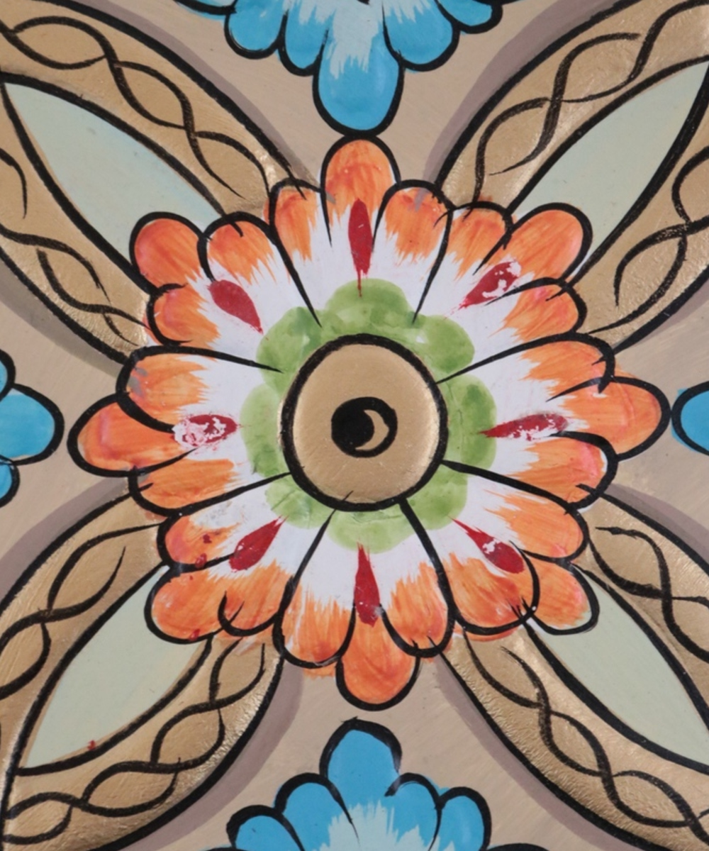 Traditional Ornamental Wall Hanging in Beige