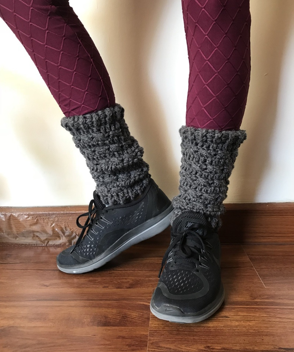Leg Warmers in Dark Grey