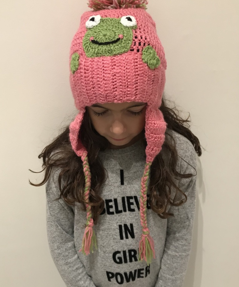 Frog Beanie and Scarf Set