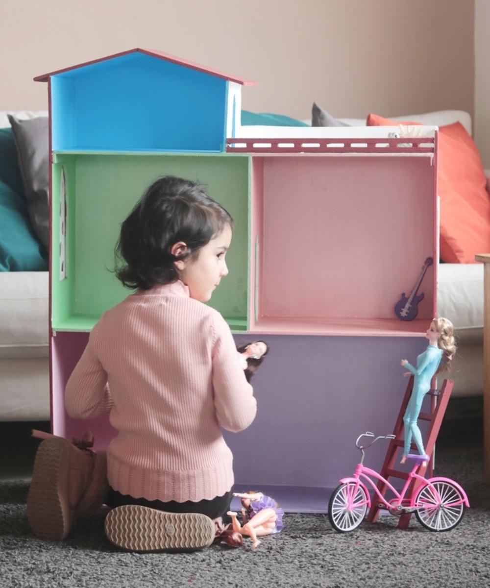 منزل العاب خشبي - متوسط