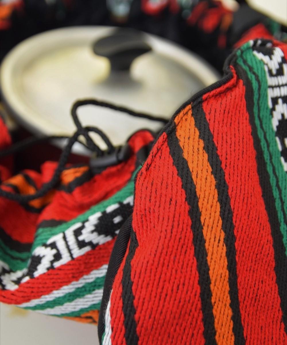 بقجة الطبيخ بقماش على الطراز البدوي والألوان الأحمر والبرتقالى والأخضر - متوسطة