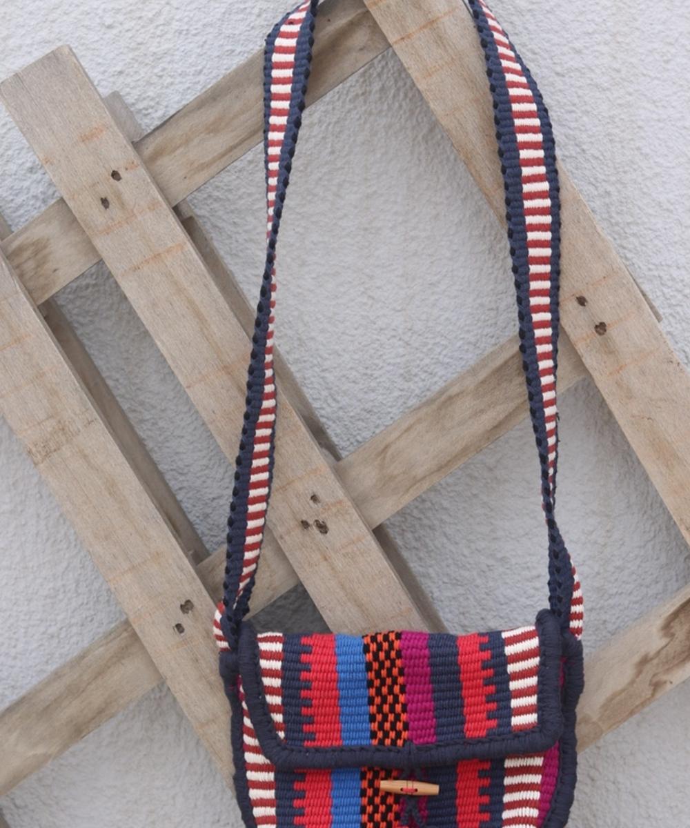 Crossbody Bag with Black Details