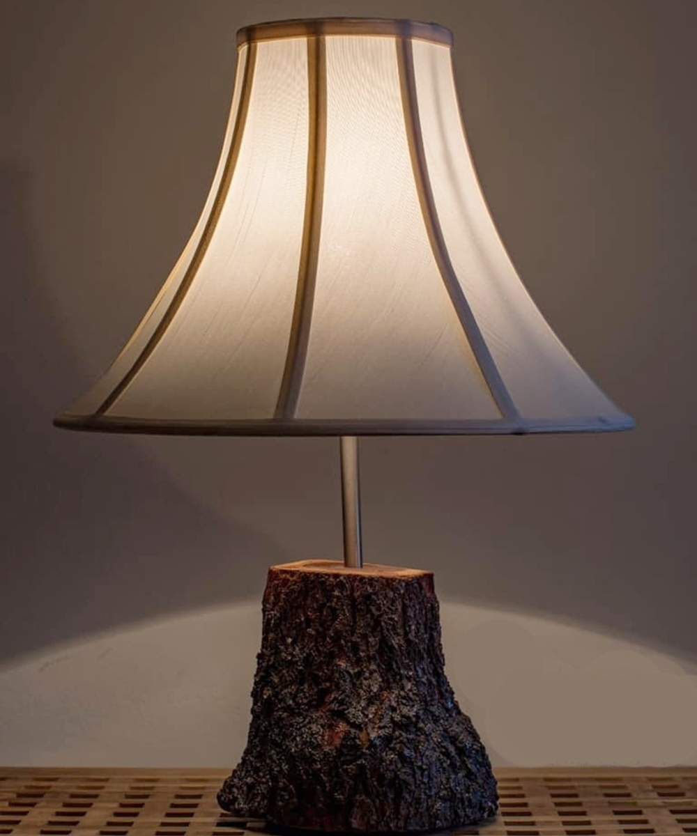 Wooden Side Lamp
