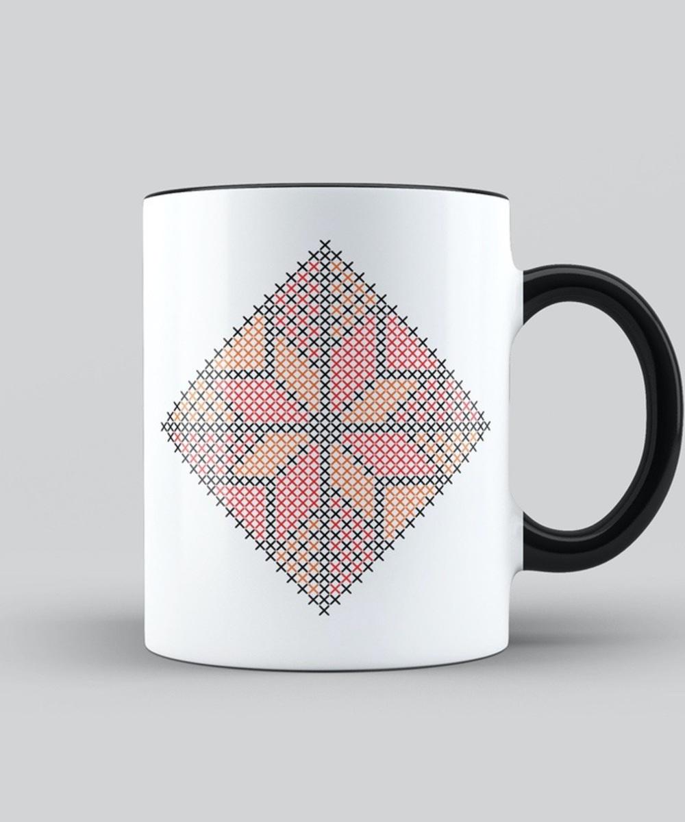 Najme Pattern in Orange and Red Mug