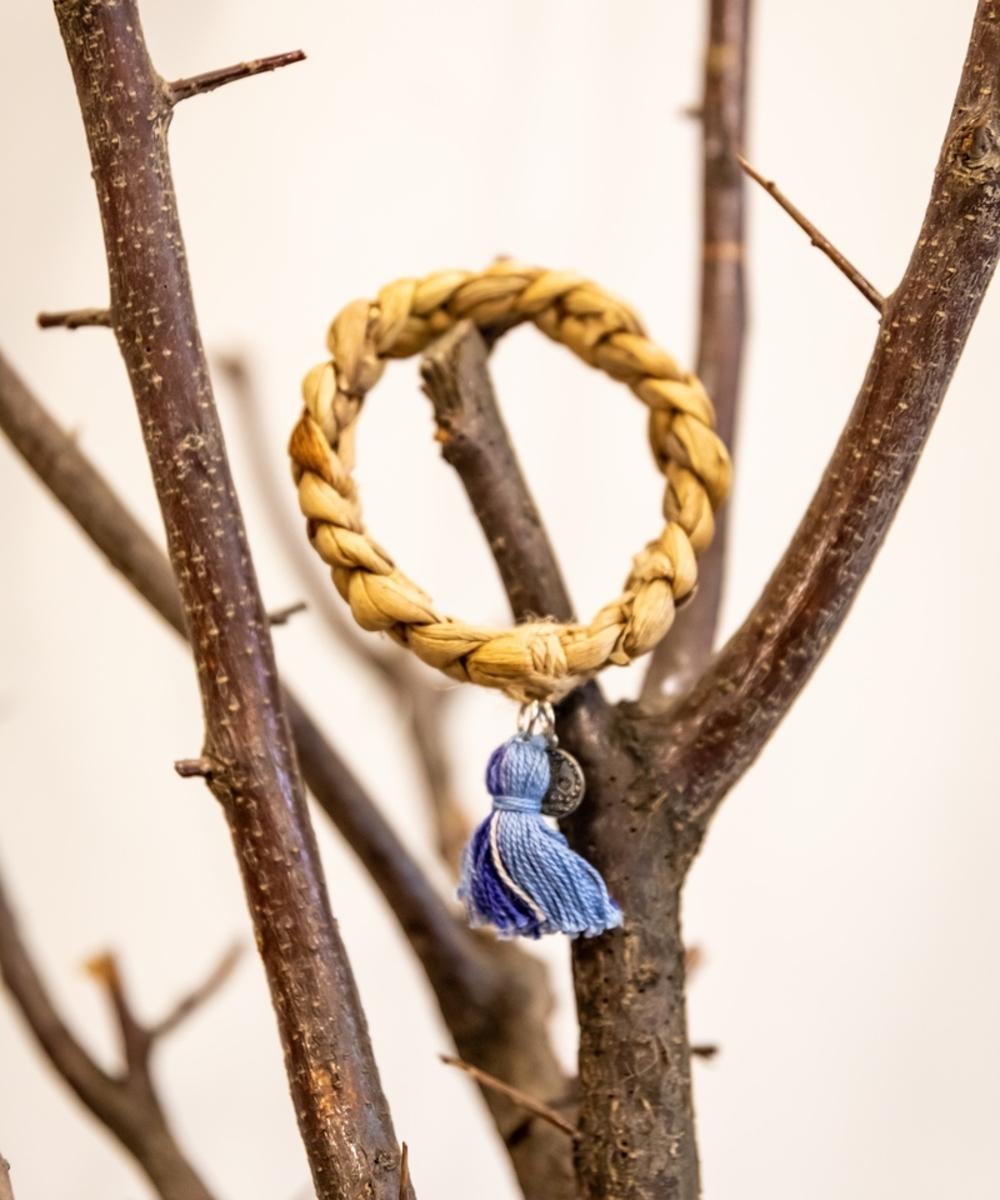 Bracelet with Blue Tassel
