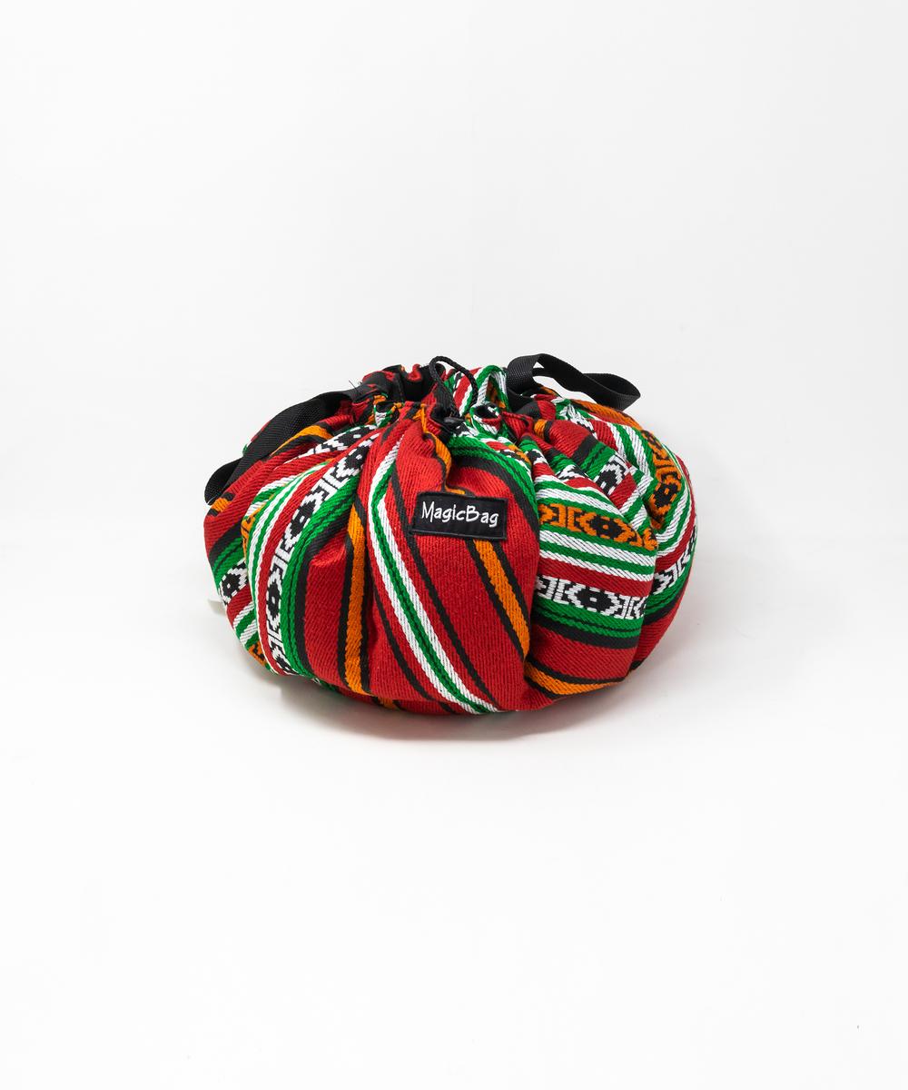 بقجة الطبيخ لقماش على الطراز البدوي وألوان متعددة - صغيرة