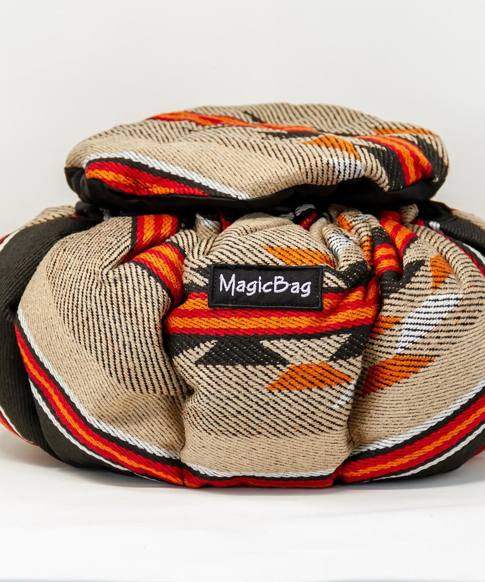 Cooking Bag in Brown and Black Bedouin Patterns, Large