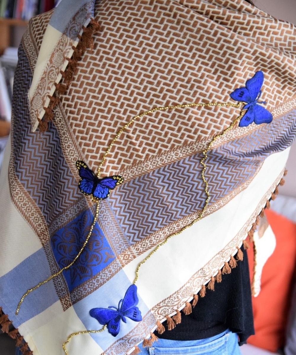 Keffiyeh with Butterflies