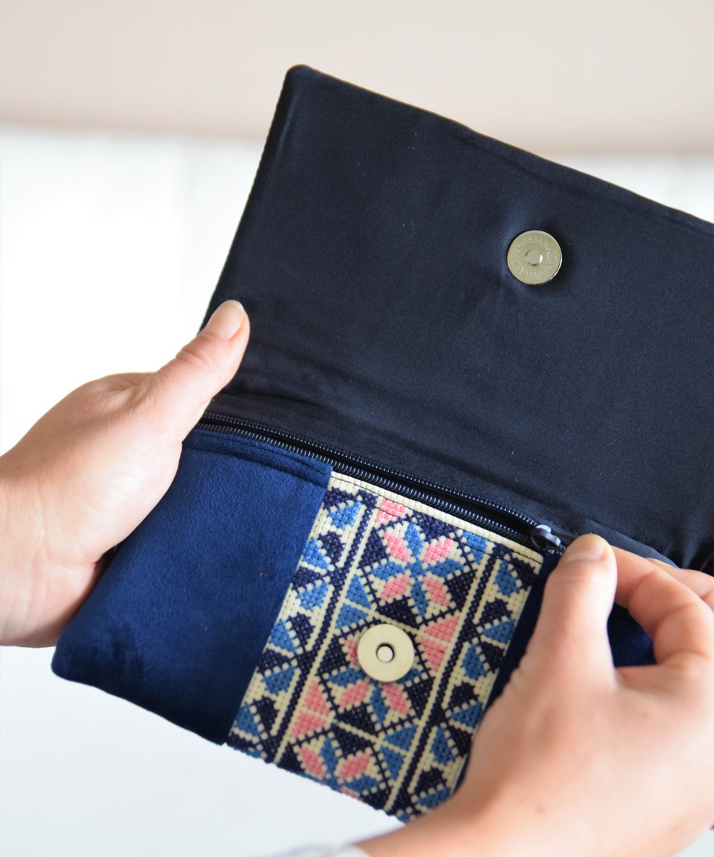 Embroidered Clutch with Geometrical Patterns