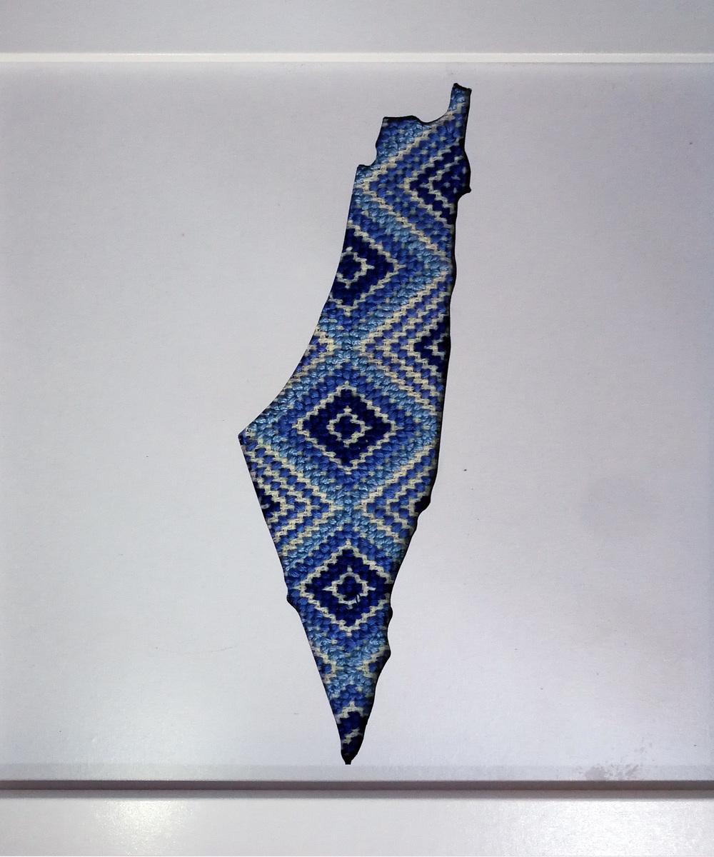 تطريز يدوي - خريطة فلسطين