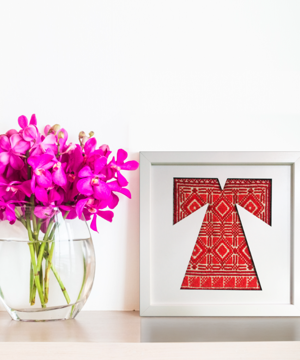 Hand-Embroidered Dress Home Decor