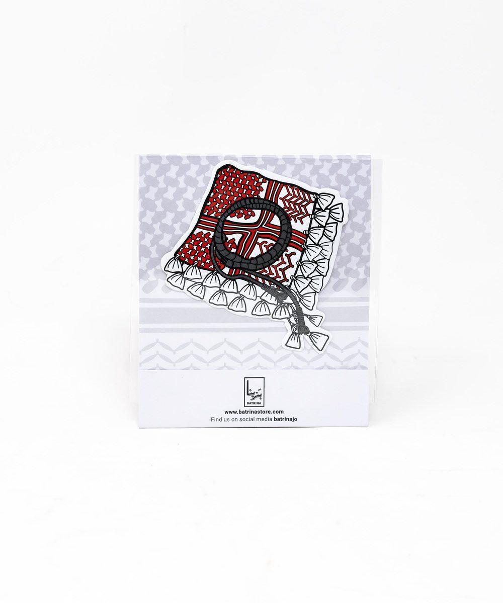 ستيكر - ملصق بتصميم الشماغ الاردني