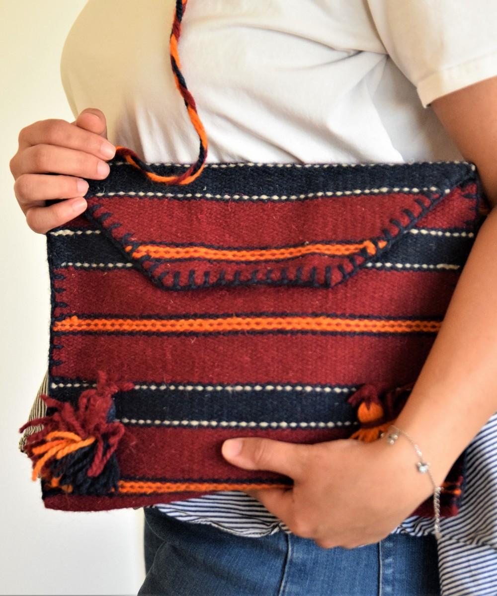 حقيبة كروس بودي ذات طراز بدوي - لمحة البني