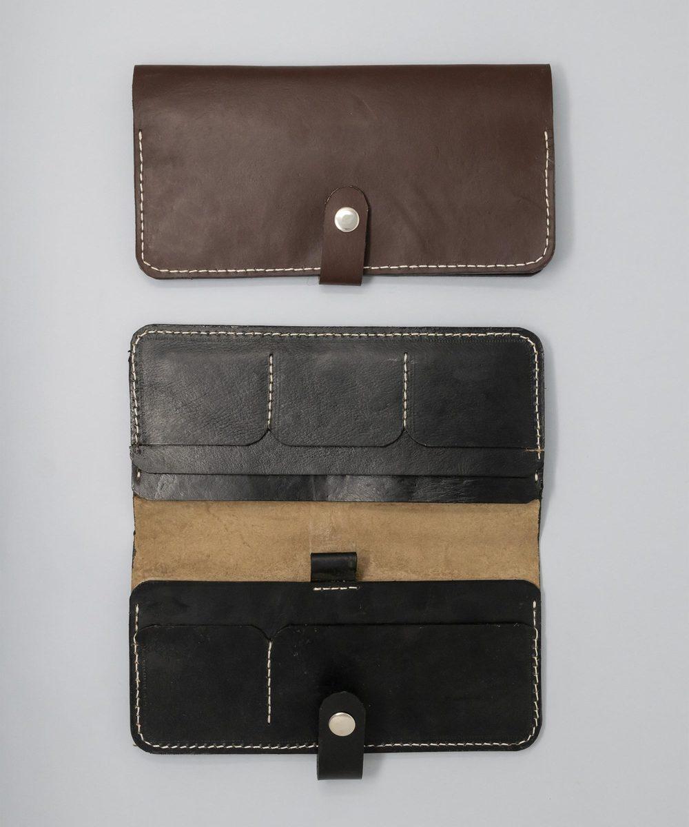 محفظة جلد متعددة الاستعمالات - أسود
