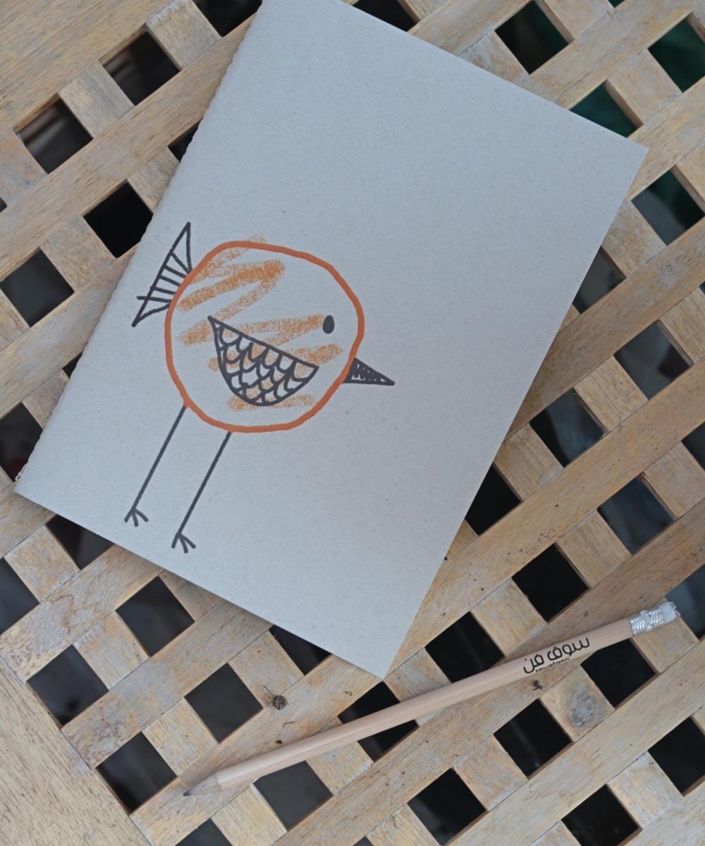 Bird themed notebook