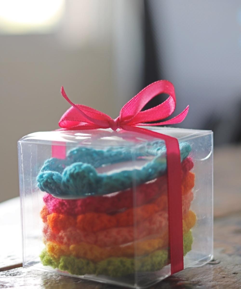 Crochet Magnet Set: Six Pieces