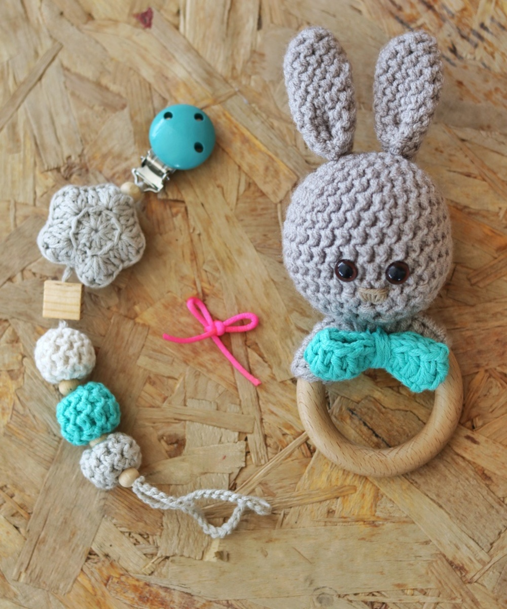 Bunny-Themed Baby Gift Set: Blue