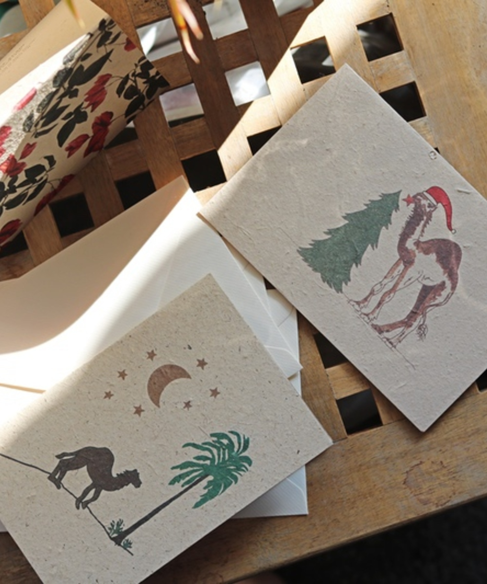 Greeting Card Set: Floral and Camel
