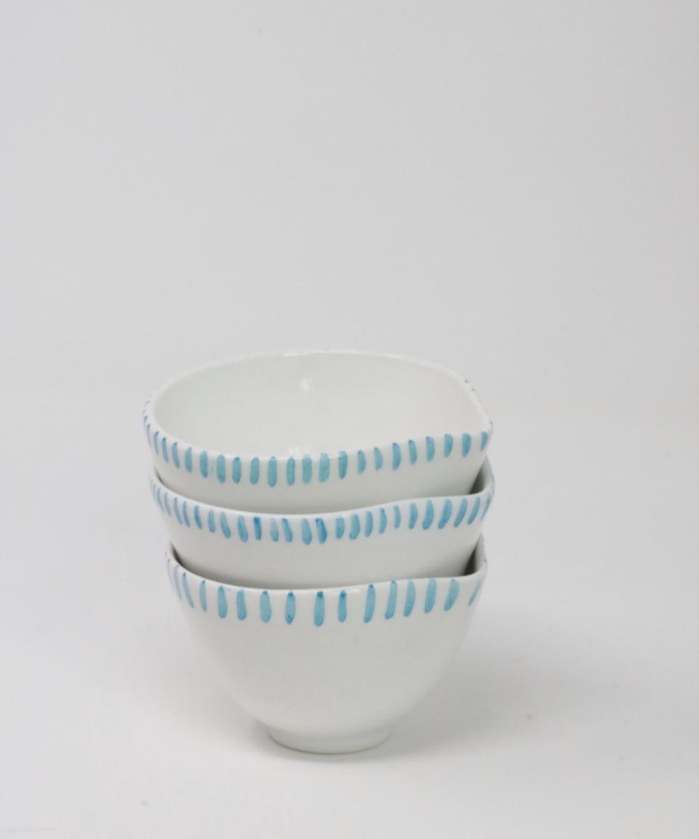 صحون خزفية (أبيض وأزرق)