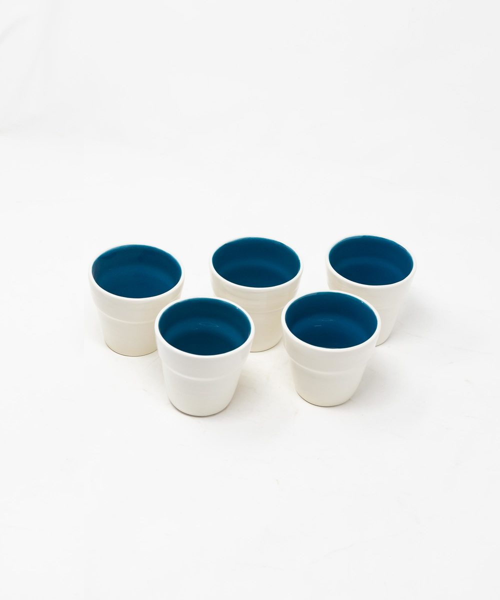 Blue and White Serving Set