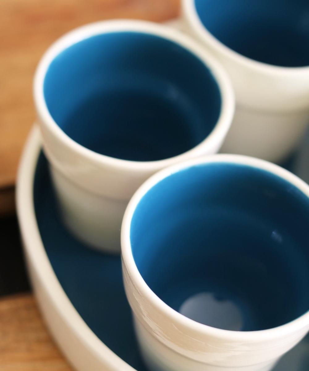 Blue + White Serving Set