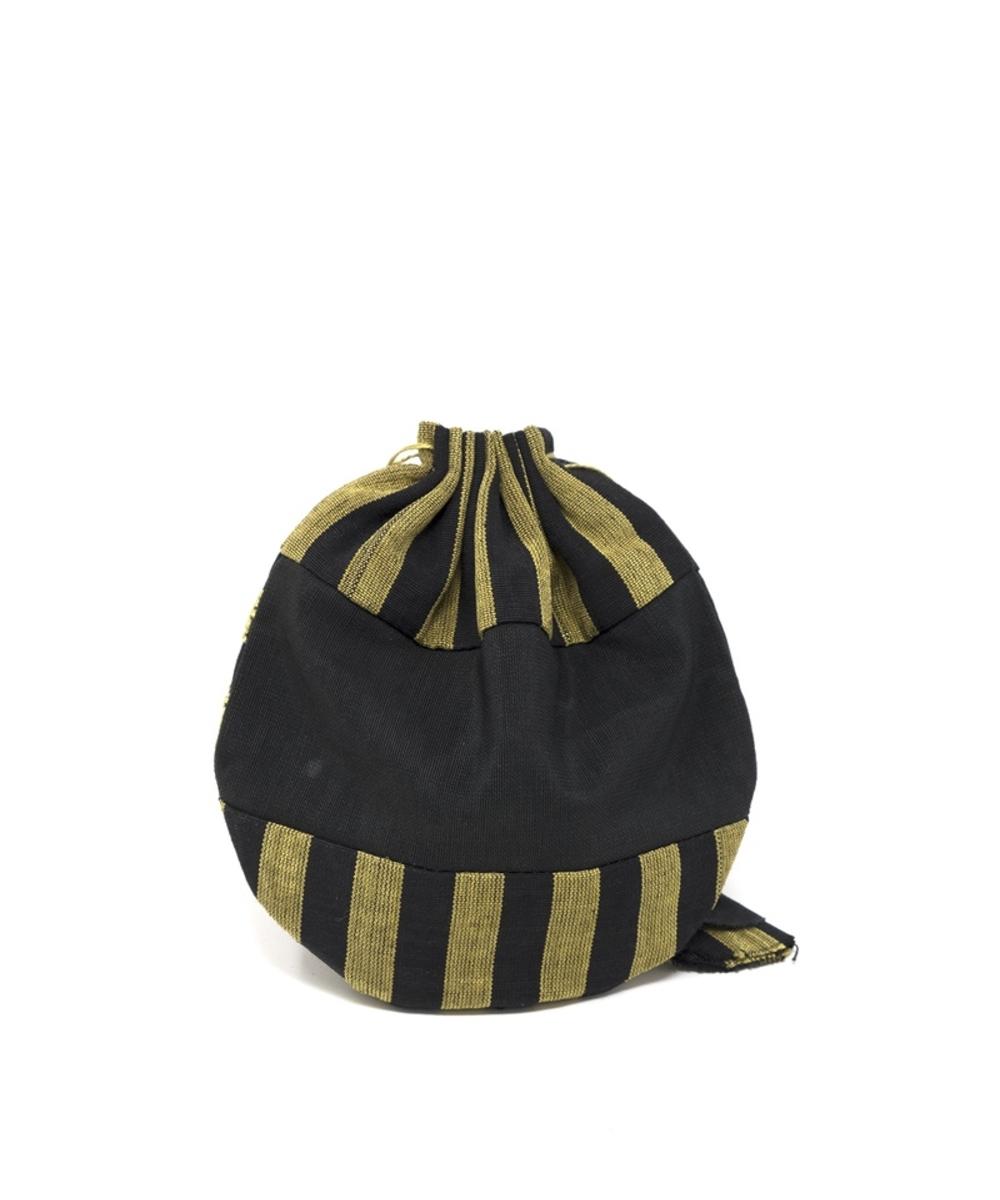 محفظة قماشية بتطريز يدوي (أصفر)