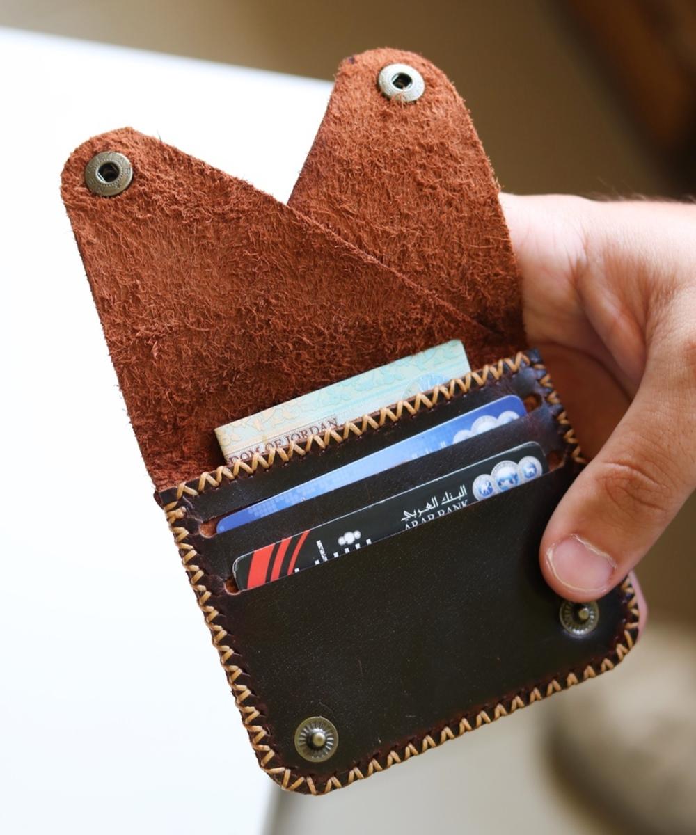 Men's Triangle Wallet: Brown