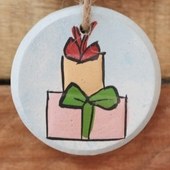 Three-Tier Christmas Wall Hanging: Pastel