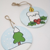 Candle and Christmas Tree Wall Hangings