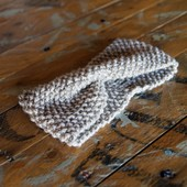Knit Headband in Taupe
