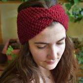 Knit Headband in Red