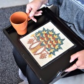Mosaic Tray with Tree of Life