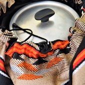 Cooking Bag  (Medium) - Brown and Black Bedouin Patterns