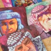 بطاقة بريدية مربعة - رجل فلسطيني