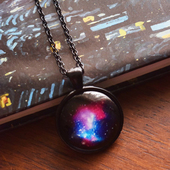 Black Glow in the Dark Galatic Necklace