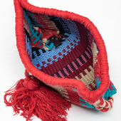 Woven Pouch with Red Tessel