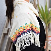 Embroidered Scarf: Colourful Details