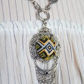 Large Embroidered Necklace