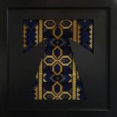 تطريز ماكنة بألوان مذهبة (ثوب تقليدى)
