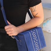 Blue Velvet Box Bag