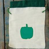 كيس خضار بتصميم فلفل أخضر
