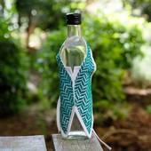تلبيسة زجاجة قماشية (أخضر)