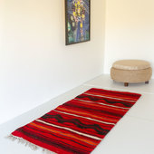 All Red Carpet with Stripes and Wavy Pattern