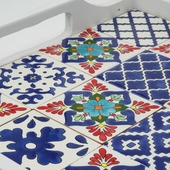 Large Tray with Handpainted Ceramics (White with assorted designs)
