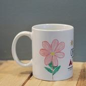 كوب قهوة و شاي- زهرة