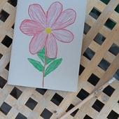 Flower themed notebook