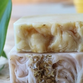 Honey, Milk, and Chamomile Soaps
