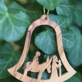 Olive Wood Ornaments: Camel and Donkey