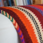 Striped Cushion Cover: Pink Tones
