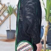Circular Embroidered Purse: Green